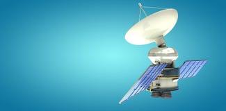 Immagine composita del satellite autoalimentato solare digitalmentegenerato del of3d di immagine Illustrazione di Stock