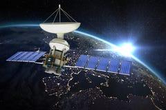 Immagine composita del satellite digitalmente generato di energia solaredel of3d di immagine Illustrazione di Stock