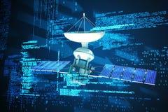 Immagine composita del satellite digitalmente generato di energia solaredel of3d di immagine Illustrazione Vettoriale