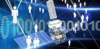 Immagine composita del satellite moderno digitalmente generatodi energia solare del of3d di immagine Illustrazione di Stock