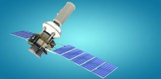 Immagine composita del satellite solare moderno digitalmentegenerato del of3d di immagine Illustrazione di Stock