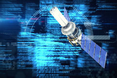 Immagine composita del satellite solare moderno digitalmentegenerato del of3d di immagine Illustrazione Vettoriale