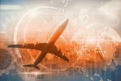 Immagine composita dell'aeroplano grafico Immagini Stock Libere da Diritti