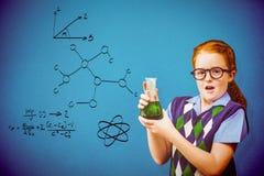 Immagine composita dell'allievo con il prodotto chimico Fotografie Stock Libere da Diritti