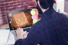 Immagine composita dell'annuncio di corso di web Fotografia Stock