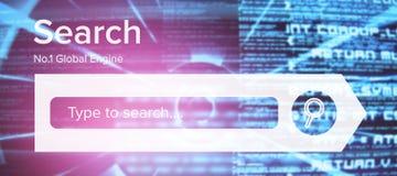 Immagine composita dell'immagine composita del logo del motore di ricerca Fotografia Stock Libera da Diritti