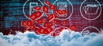 Immagine composita dell'immagine digitalmente composita delle nuvole di tempesta illustrazione di stock