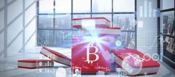 Immagine composita dell'immagine digitalmente generata del pannello solare 3d con la batteria Immagine Stock Libera da Diritti
