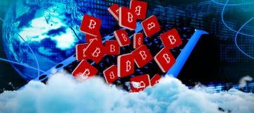 Immagine composita dell'immagine digitalmente generata delle nuvole lanuginose royalty illustrazione gratis