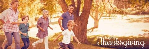 Immagine composita dell'immagine generata digitale del saluto di ringraziamento Immagine Stock