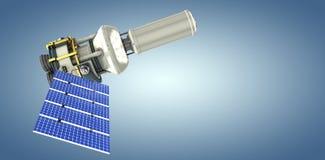 Immagine composita dell'illustrazione 3d del satellite moderno di energia solare Immagine Stock Libera da Diritti