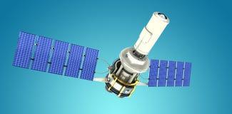 Immagine composita dell'illustrazione 3d del satellite solare moderno Fotografia Stock Libera da Diritti