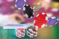 Immagine composita dell'illustrazione dei chip di gioco 3d Fotografia Stock Libera da Diritti