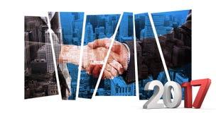Immagine composita dell'immagine composita dei numeri grigi e rossi Immagine Stock Libera da Diritti