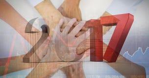 Immagine composita dell'immagine composita dei numeri grigi e rossi Fotografia Stock Libera da Diritti