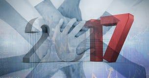 Immagine composita dell'immagine composita dei numeri grigi e rossi Fotografie Stock Libere da Diritti