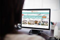 Immagine composita dell'immagine composita del sito Web della proprietà immagini stock libere da diritti