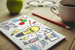 Immagine composita dell'immagine composita di multi icone colorate del computer Fotografia Stock Libera da Diritti