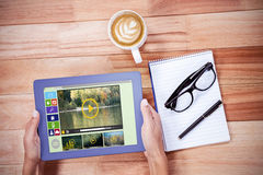 Immagine composita dell'immagine composita di varie icone del computer e del video Immagini Stock