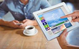 Immagine composita dell'immagine composita di varie icone del computer e del video Immagine Stock