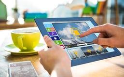 Immagine composita dell'immagine composita di varie icone del computer e del video Immagini Stock Libere da Diritti