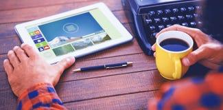 Immagine composita dell'immagine composita di varie icone del computer e del video Fotografie Stock