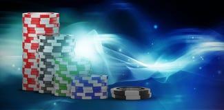 Immagine composita dell'immagine 3d del chip di gioco nero Immagine Stock