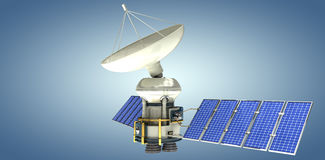 Immagine composita dell'immagine 3d del satellite autoalimentato solare Fotografia Stock