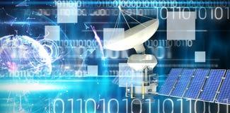 Immagine composita dell'immagine 3d del satellite autoalimentato solare Fotografia Stock Libera da Diritti
