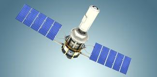 Immagine composita dell'immagine 3d del satellite solare moderno Fotografia Stock