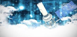 Immagine composita dell'immagine 3d del satellite solare moderno Immagini Stock Libere da Diritti