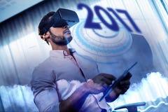 Immagine composita dell'immagine digitale del nuovo anno 2017 Immagini Stock