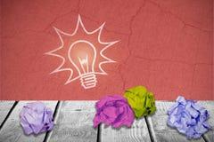 Immagine composita dell'immagine digitale della palla di carta sgualcita 3d Immagini Stock