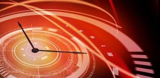 Immagine composita dell'immagine digitalmente composita dell'orologio fatta di valuta illustrazione vettoriale