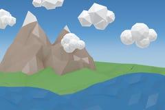 Immagine composita dell'immagine digitalmente generata dei cristalli modellati illustrazione vettoriale