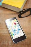Immagine composita dell'immagine digitalmente generata dei puntatori di navigazione royalty illustrazione gratis