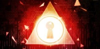 Immagine composita dell'immagine digitalmente generata del foro chiave con forma del triangolo illustrazione vettoriale