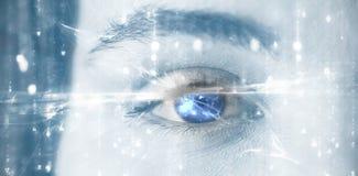 Immagine composita dell'immagine digitalmente generata del modello astratto Fotografia Stock