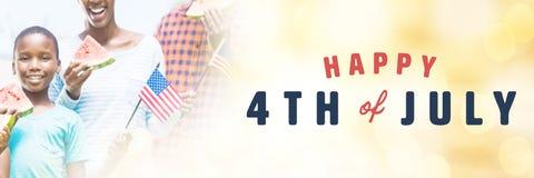 Immagine composita dell'immagine digitalmente generata del quarta felice del testo di luglio royalty illustrazione gratis