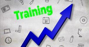 Immagine composita dell'immagine digitalmente generata del testo di addestramento illustrazione di stock