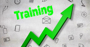 Immagine composita dell'immagine digitalmente generata del testo di addestramento illustrazione vettoriale