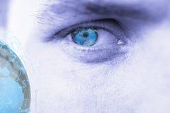 Immagine composita dell'immagine digitalmente generata di terra con connettività sociale immagine stock