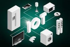 Immagine composita dell'immagine generata da computer delle icone 3d degli apparecchi e del testo Immagini Stock