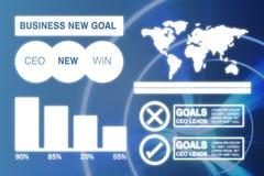 Immagine composita dell'immagine grafica della presentazione di affari con i grafici e la mappa Immagine Stock