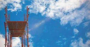 Immagine composita dell'immagine indicativa 3d della costruzione metallica Fotografia Stock Libera da Diritti