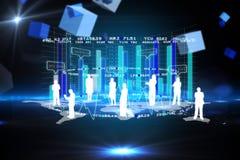 Immagine composita dell'interfaccia di affari Immagine Stock