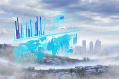 Immagine composita dell'interfaccia di affari Immagini Stock