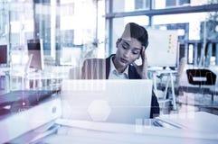 Immagine composita dell'interfaccia di affari con i grafici ed i dati Fotografia Stock