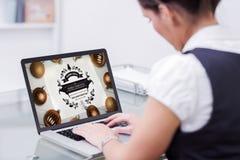 Immagine composita dell'interfaccia online di abilità Fotografie Stock Libere da Diritti