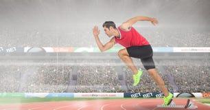 Immagine composita dell'uomo allo sport Fotografia Stock